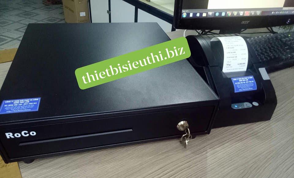 Bộ đôi thiết bị bán hàng Ngăn kéo đựng tiền Roco RC330 và Máy in hóa đơn Gprinter GP5890XIII