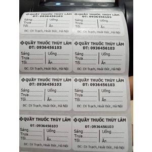 Máy in tem mã vạch cho quầy thuốc
