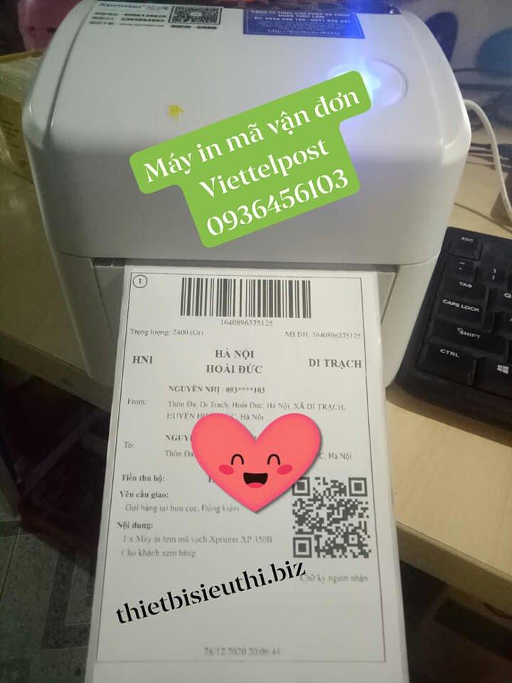 Máy in tem mã vận đơn Viettel Post - Xprinter XP 420B in khổ 100*150mm
