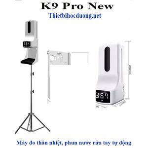 Máy khử khuẩn tay, đo thân nhiệt tự động K9 Pro
