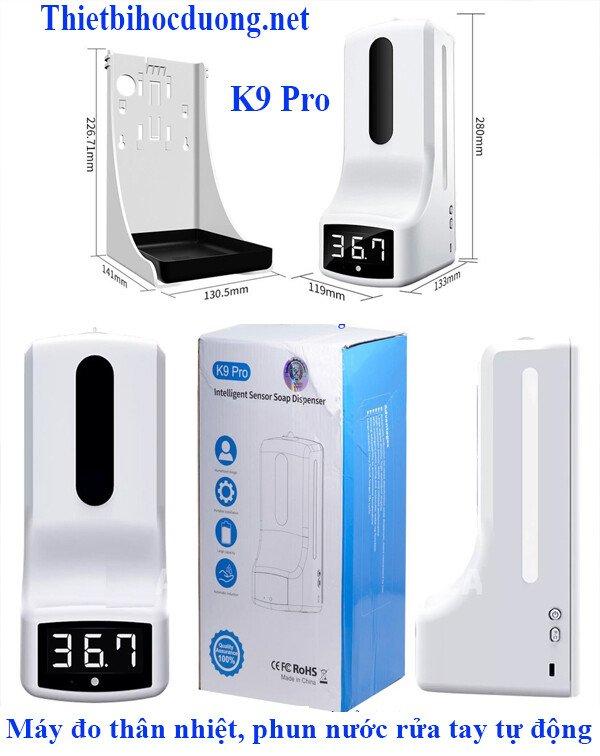 Máy khử khuẩn và đo thân nhiệt tự động K9 Pro