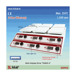 Máy khuấy từ gia nhiệt 6 vị trí SSMHS-6