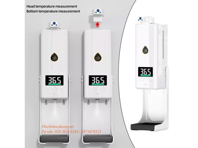 Máy khử trùng & đo nhiệt độ tự động K10 Pro tự động với 2 bộ cảm biến đo thân nhiệt