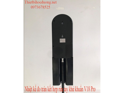 Nhiệt kế đo trán kết hợp khử khuẩn tay tự động V18 Pro