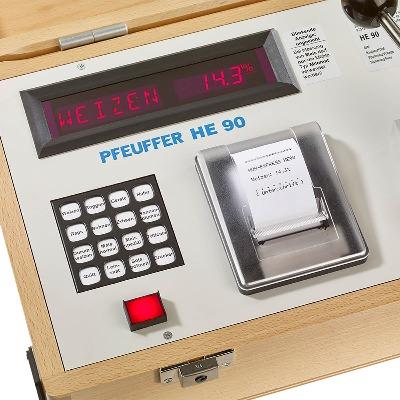 Máy phân tích độ ẩm các loại hạt , model: HE 90, Hãng: Pfeuffer / Đức