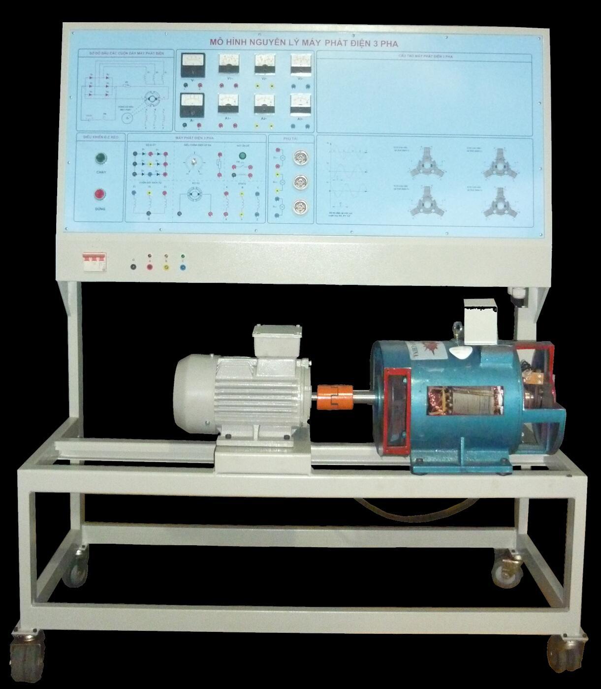 Bàn thí nghiệm mạch điện xoay chiều 3 pha