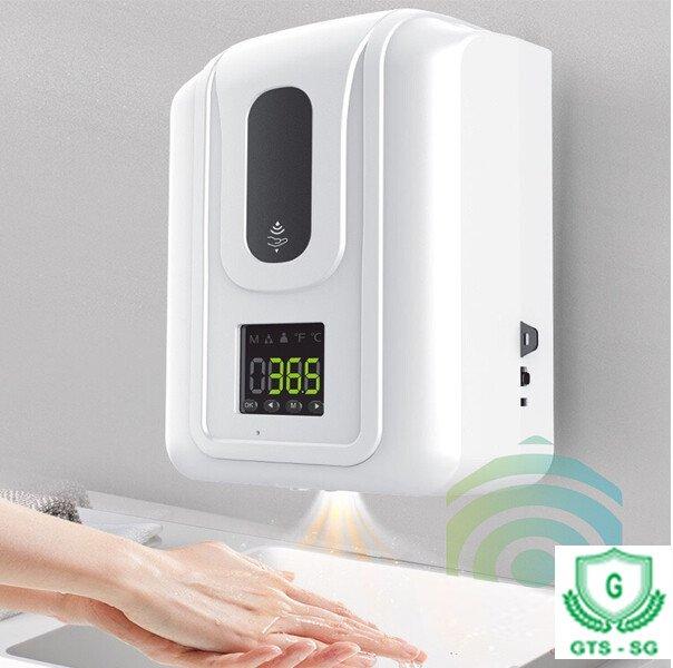 Máy đo thân nhiệt, phun nước rửa tay khử khuẩn đa năng