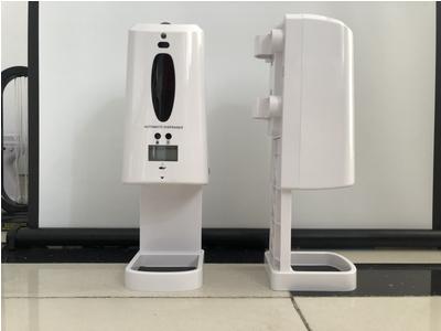 Máy rửa tay, đo thân nhiệt trán để bàn, dùng cho văn phòng