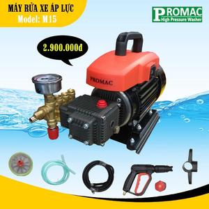 Máy rửa xe tự hút nước Promac M15