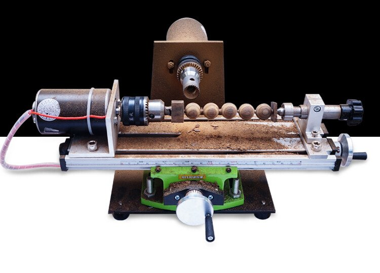 Máy tiện hạt gỗ, hạt cườm mini