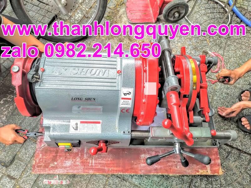 máy tiện ren ống lushun z1t-r4 21-114mm 2 đầu bò
