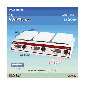 Bếp gia nhiệt có khuấy từ 3 vị trí SSMHS-3 Scilab
