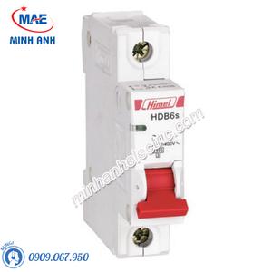 MCB 1P 10A 6kA - Model HDB6SN1C10