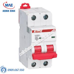 MCB 2P 50A 10kA - Model HDB9H632C50