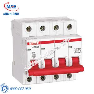 MCB 4P 25A 6kA - Model HDB6SN4C25
