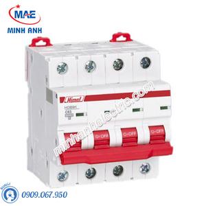 MCB 4P 63A 10kA - Model HDB9H634C63