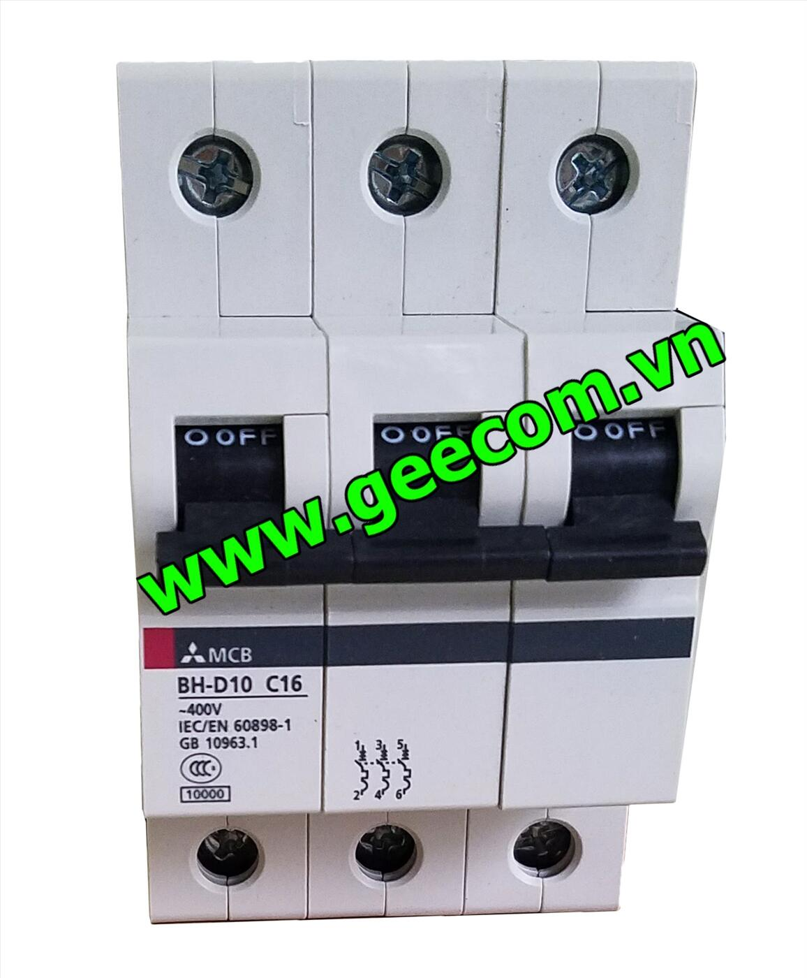 MCB 3P BH-D10 16A