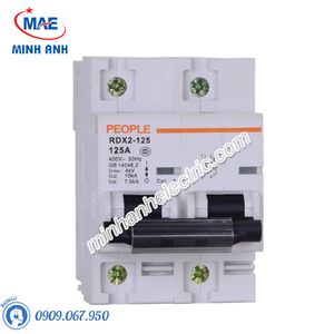 MCB dòng cắt 10000A - RDX2-125 2P C80 80A