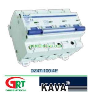 MCB KAVA DZ47-100 4P | Cầu dao tự động DZ47-100 4P | Kava Viet Nam |