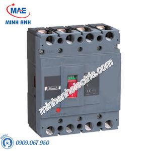 MCCB 4P 100A 50kA - Model HDM6S100M1004XXX3