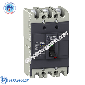 MCCB Type B 3P 20A 7.5kA 415VAC - Model EZC100B3020