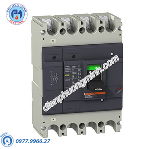 MCCB Type H 4P 400A 50kA 415VAC - Model EZC400H4400N