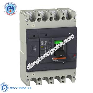 MCCB Type N 4P 400A 36kA 415VAC - Model EZC400N4400N