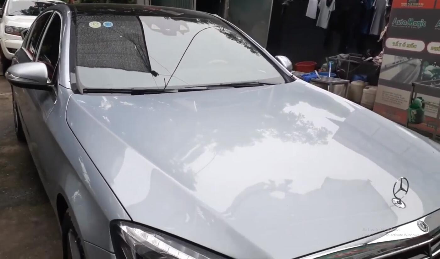 Phục hồi kính xước cho Mercedes-Benz S400