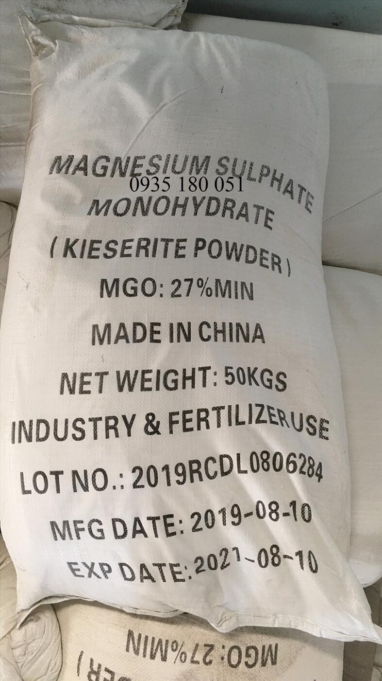 Magnesium sulfate MgSO4