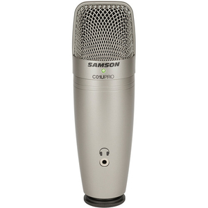 Mic thu âm Samson C01U Pro USB Studio Condenser (Silver)