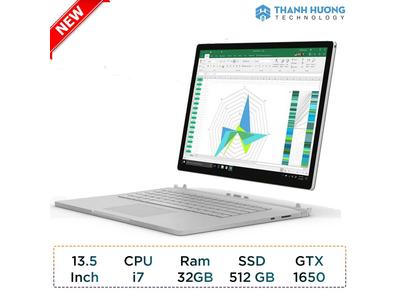 Microsoft Surface Book 3 - 13.5 inch - Core i7 - Ram 32GB - SSD 512GB - GTX 1650 4GB New Seal