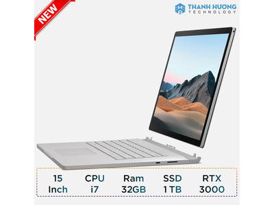 Microsoft Surface Book 3 - 15inch - Core i7 - Ram 32GB - SSD 1TB - RTX 3000 6GB New Seal
