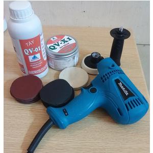 Bộ dụng cụ mài kính xước, đánh bóng kính MAKITA GV6010