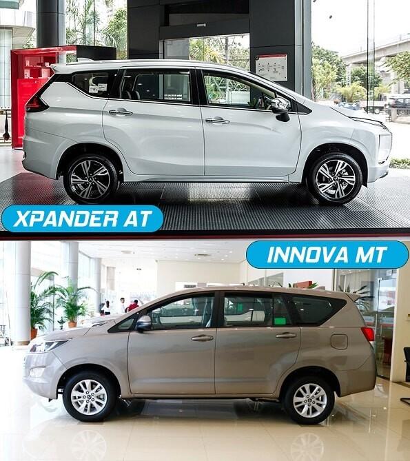 Mitsubishi Xpander AT tự động và Toyota innova E MT số sàn