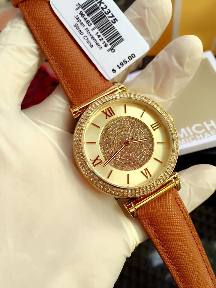Đồng hồ nữ Michael Kors Catlin Leather MK2375