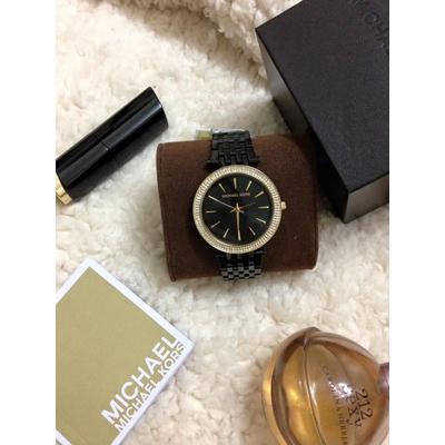 Đồng hồ nữ Michael Kors Darci Black Rose Gold Glitz Dial Steel Band MK3407