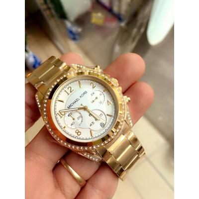 Đồng hồ nữ Michael Kors Blair Goldtone Dial White Mk5166