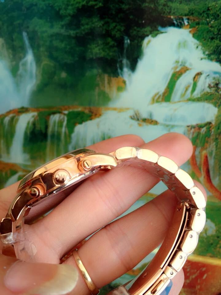 Đồng hồ nữ Michael Kors Rose Gold Chronograph MK5430