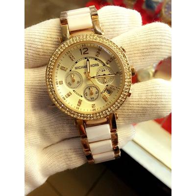 Đồng hồ nữ Michael Kors Parker Ceramic Chronograph MK5774