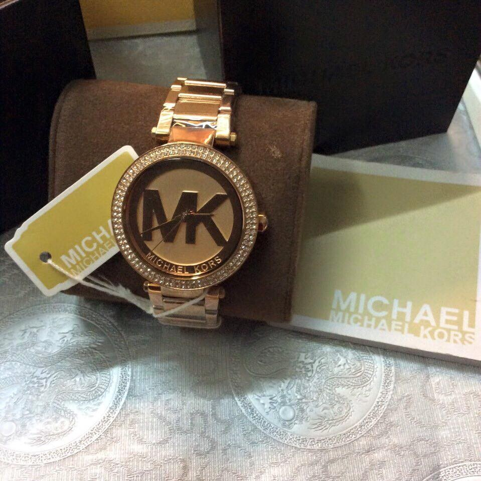 Đồng hồ nữ Michael Kors Parker Rose Gold-Tone Stainless Steel Bracelet 39mm MK5865