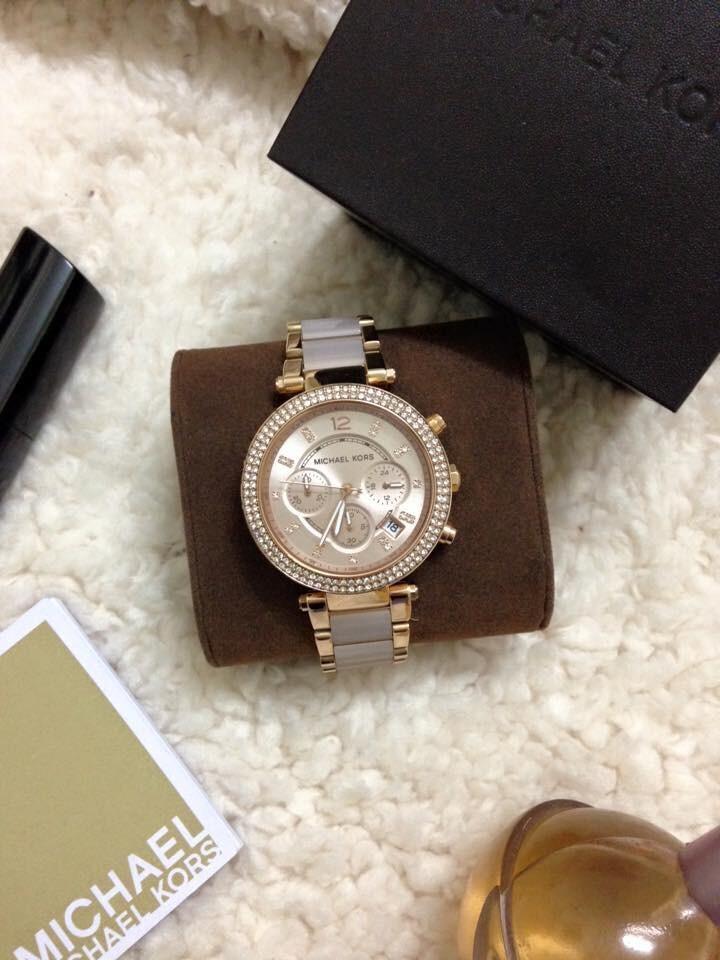 Đồng hồ nữ Michael Kors Parker Blush Dial Rose Gold-tone MK5896