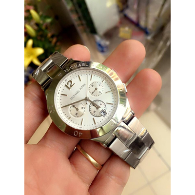 Đồng hồ nữ Michael Kors Wyatt Chronograph Silver Dial Stainless Steel MK5932