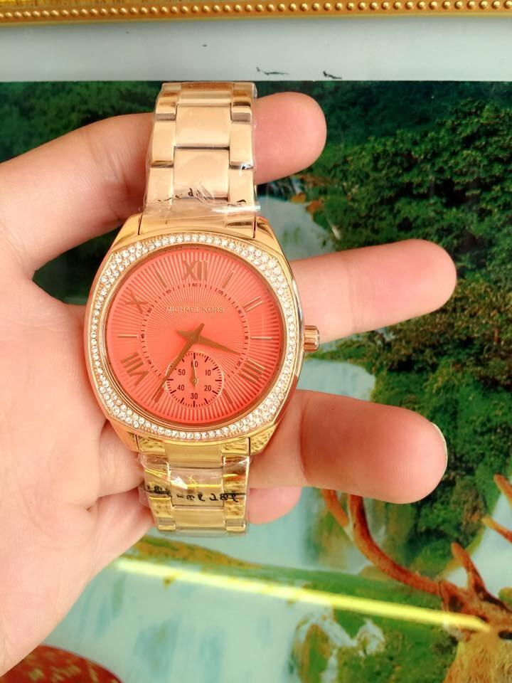 Đồng hồ nữ Michael Kors Bryn Gold Dial Pink Plated MK6134