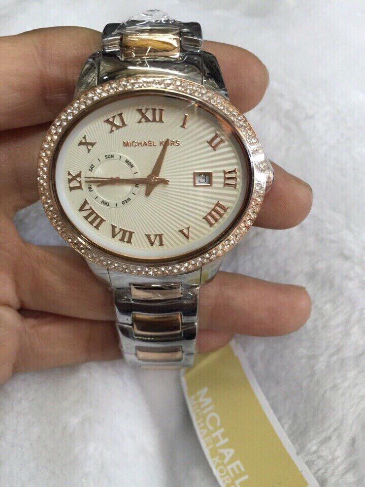 Đồng hồ nữ Michael Kors Whitley Silver Dial Two-tone MK6228