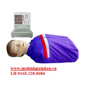 Mô hình CPR sơ cứu bán thân có modul hiển thị