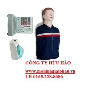 Mô hình CPR sơ cứu bán thân có modul hiển thị và máy in
