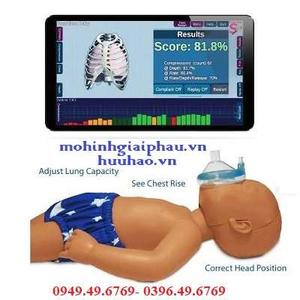 Mô hình hồi sức cấp cứu trẻ sơ sinh có kết nối máy tính Baby CPR PRO B201