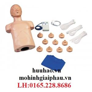 Mô hình hồi sức cấp cứu với thiết bị điện tử và túi xách