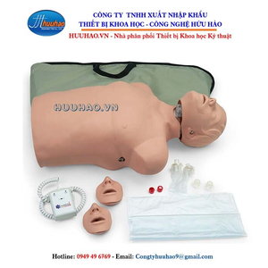 Mô hình thực hành sơ cấp cứu bán thân có đèn
