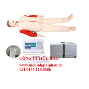 Mô hình sơ cấp cứu toàn thân người lớn có modul hiển thị và máy in